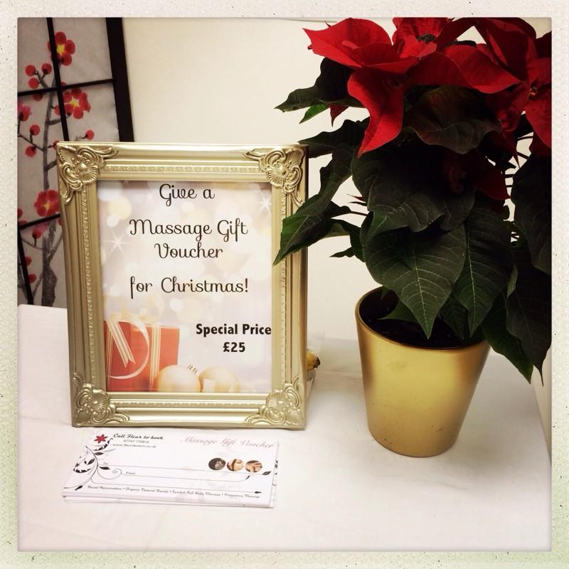 Massage gift voucher penzance